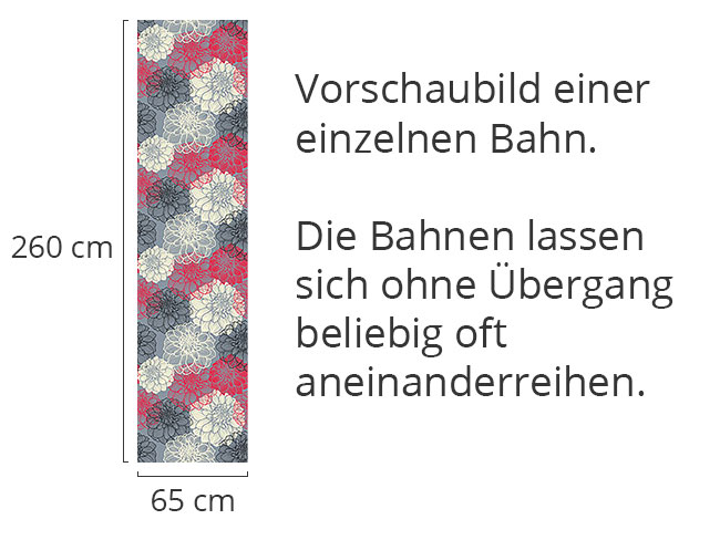 Designtapete Bohemia Dahlia
