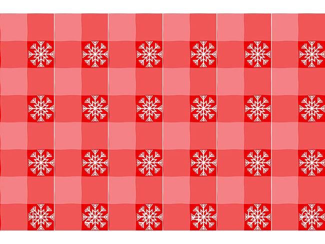 Designtapete Weihnachts Tartan