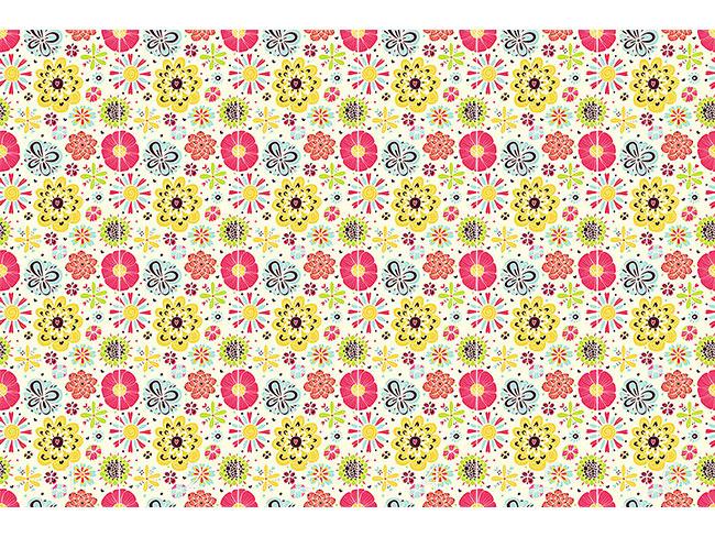 Designtapete Summer Splash Floral