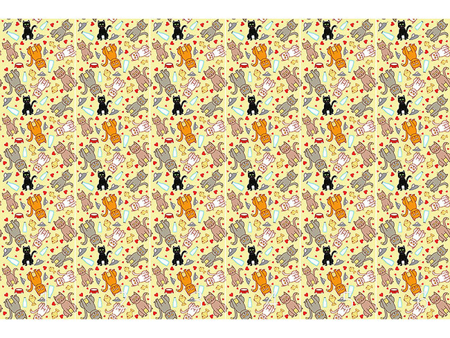 Designtapete Wir Lieben Katzen