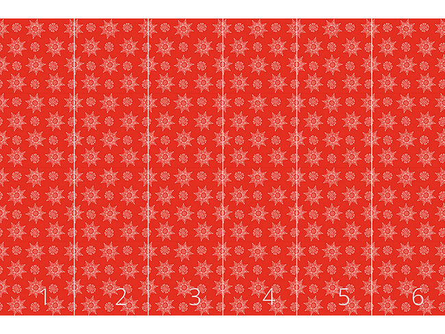 Designtapete Indische Blumen Weihnacht