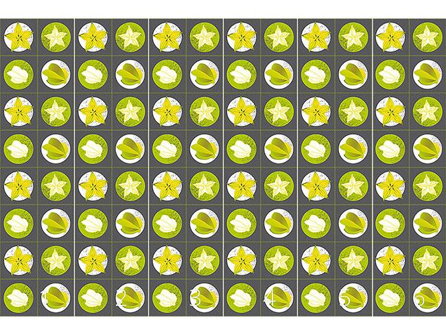 Designtapete Sternfrucht