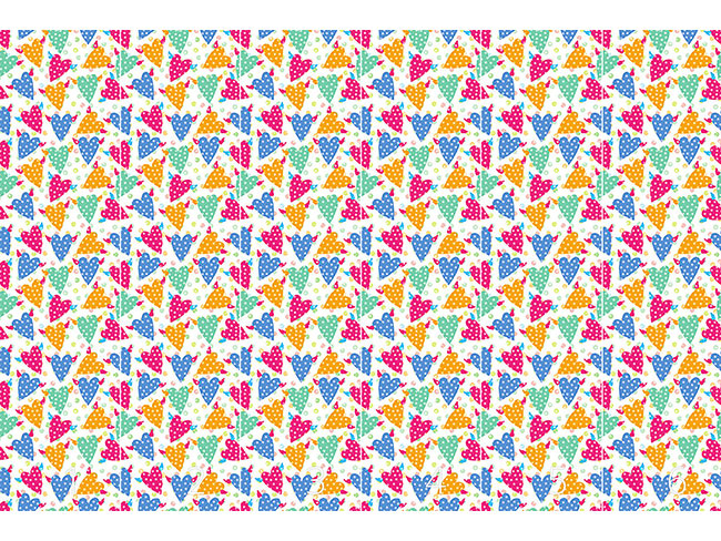 Designtapete Hundert Punkte Für Fliegende Herzchen