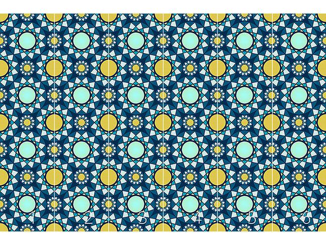 Designtapete Das Mosaik Der Wintersonne