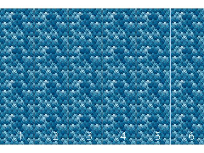 Designtapete Pentagon Pixel