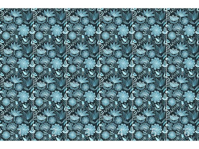 Designtapete Die Transparenz Der Nachtblumen