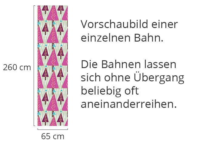 Designtapete Süsser Weihnachtswald