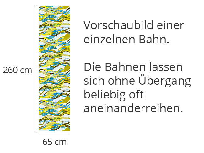 Designtapete Wellen Design Mit Blumen