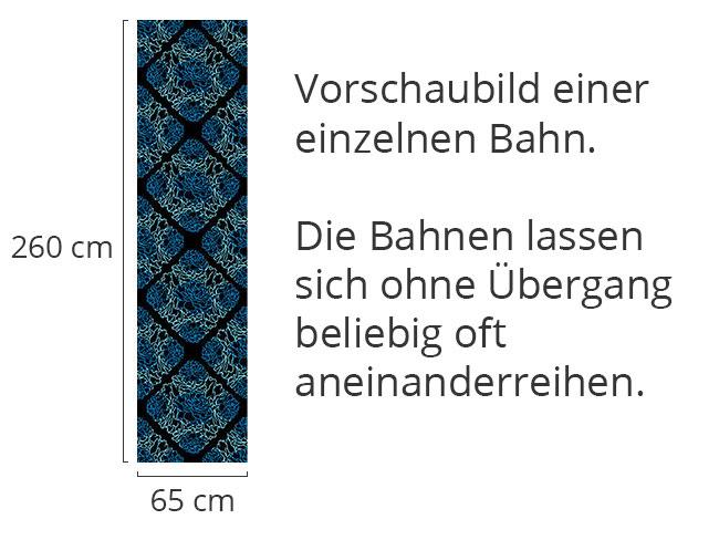 Designtapete Rosentraum Schwarz