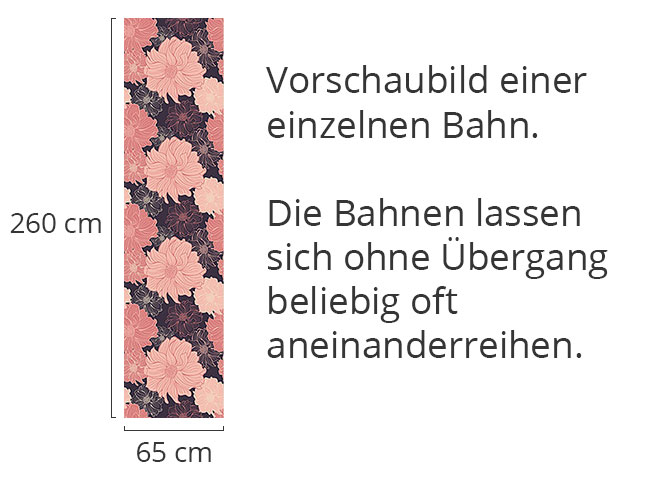 Designtapete Zarte Dahlien Erscheinen