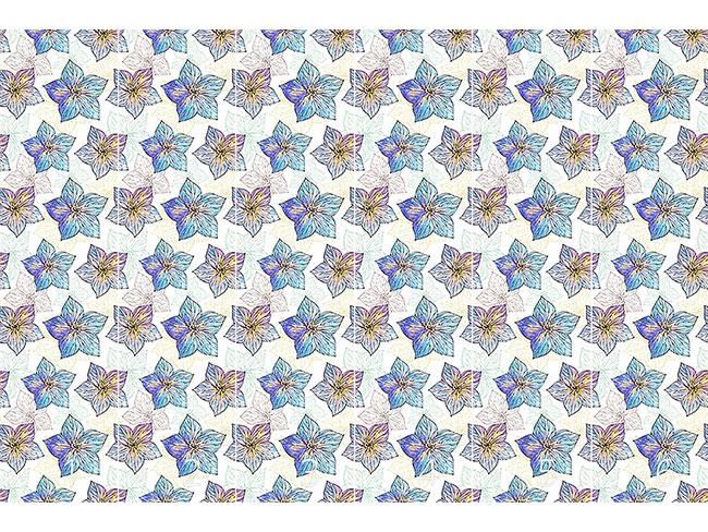 Designtapete Aquarell Hibiscus