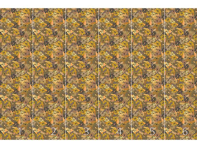 Designtapete Wild Wachsen Gänseblümchen