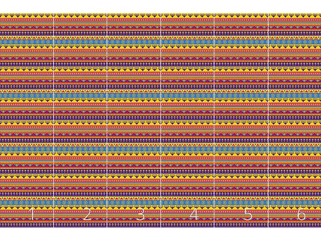 Designtapete Lustiger Inka Print