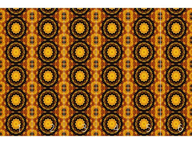 Designtapete Stern Im Kaleidoskop