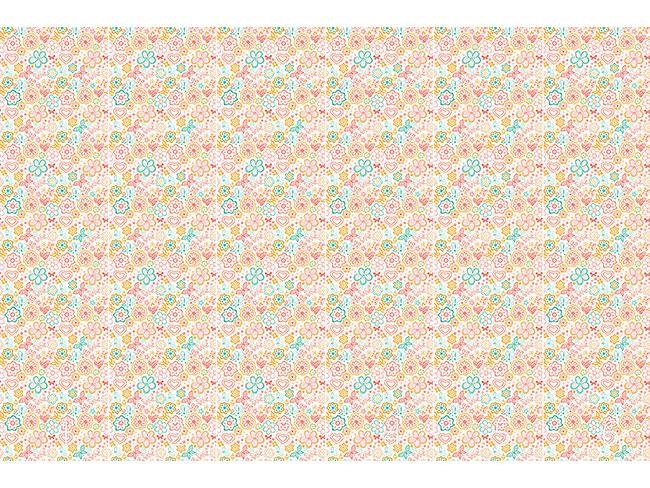 Designtapete Schmetterlinge Und Blumen Erwachen