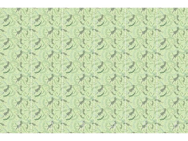 Designtapete Wirbelnde Blätter Im Frühling