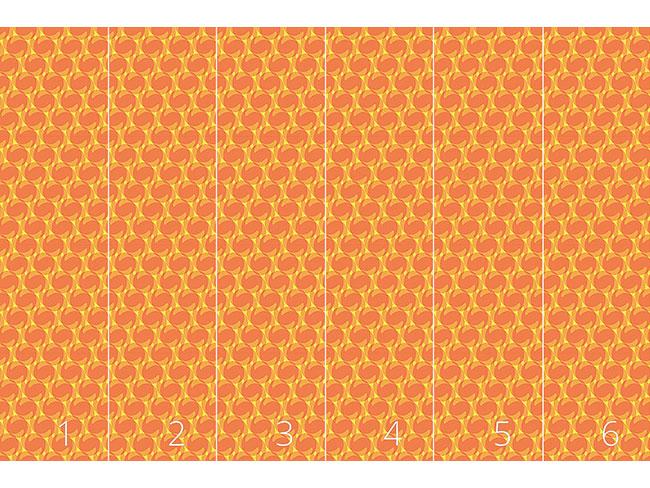 Designtapete Föhnwellen Illusion