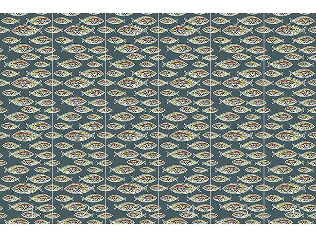 Designtapete Polynesische Fische