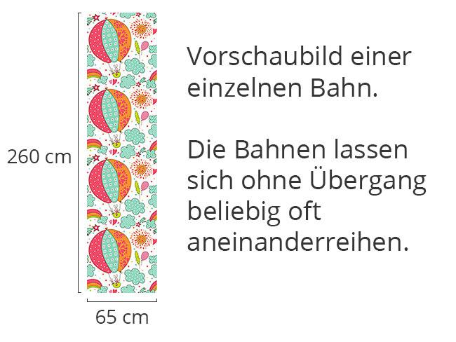 Designtapete Häschens Ballonfahrt