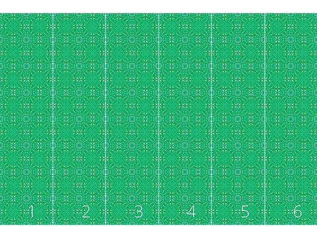 Designtapete Smaragd Glas