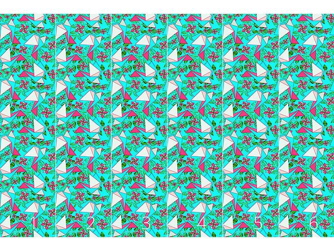 Designtapete Origami Vögel Im Paradies