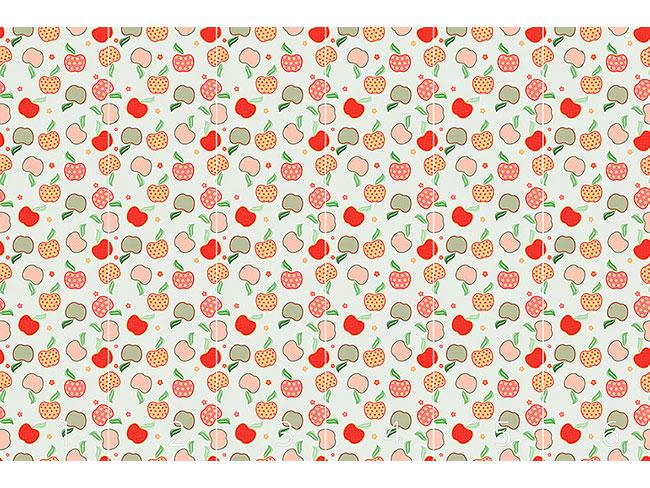 Designtapete Leckeres Apfel Patchwork