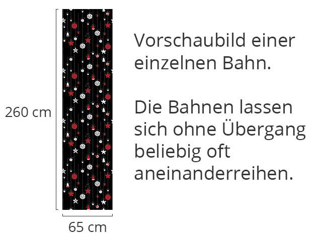 Designtapete Christbaumkugeln Schwarz