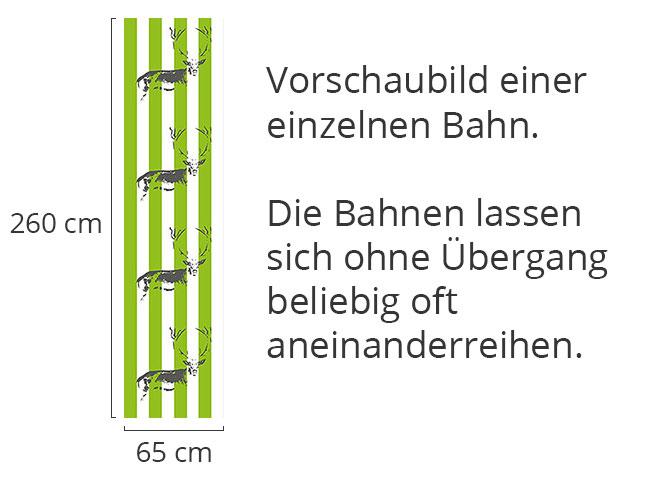 Designtapete Hirsch Im Streifenwald