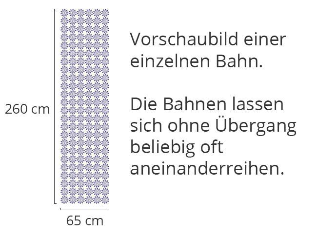 Designtapete Stencil Blümchen