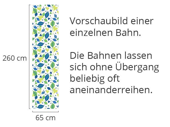 Designtapete Fröhlicher Blatt Mix