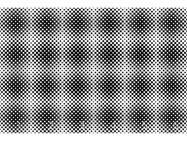 Designtapete Quadrat Hypnose