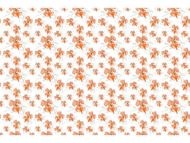 Designtapete Häschen Lieben Karotten