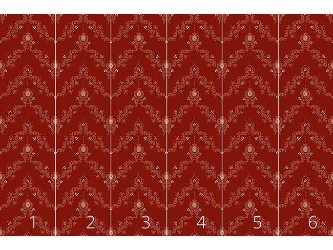 Designtapete Floraler Barock Rot