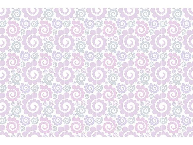 Designtapete Romantische Spiralen