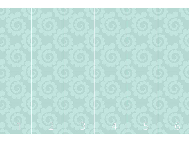 Designtapete Wasser Spiralen