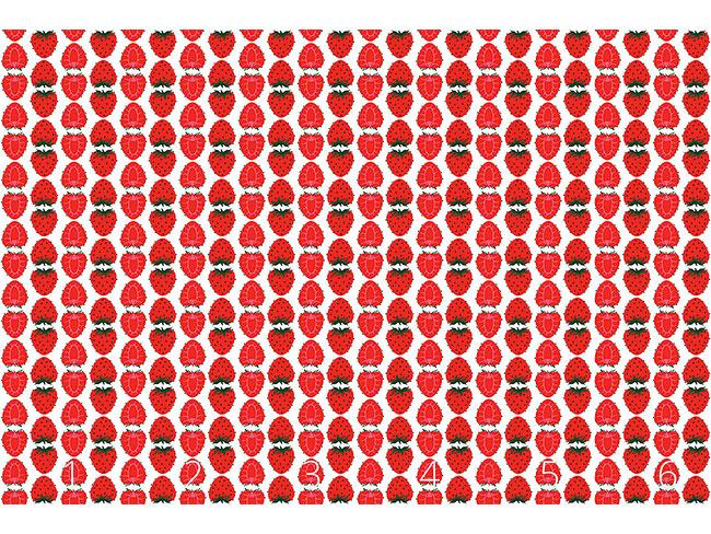 Designtapete Erdbeeren Halb Und Ganz