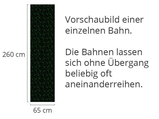 Designtapete Kleeblatt Silhouetten