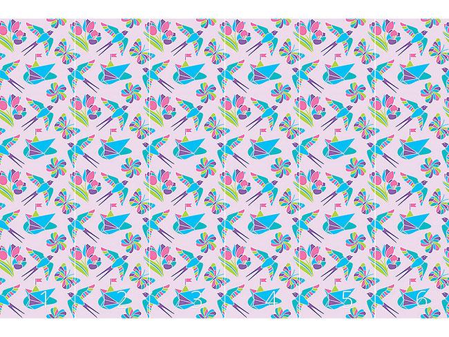 Designtapete Romantisches Mosaik