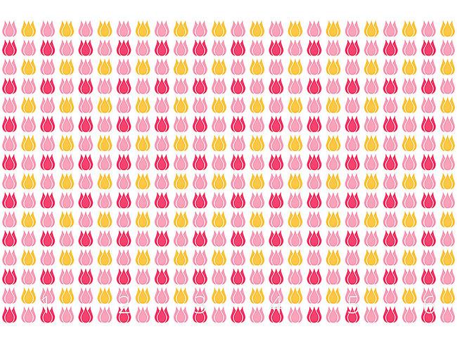 Designtapete Tulpe Total