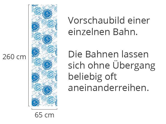 Designtapete Om Blau und Weiss