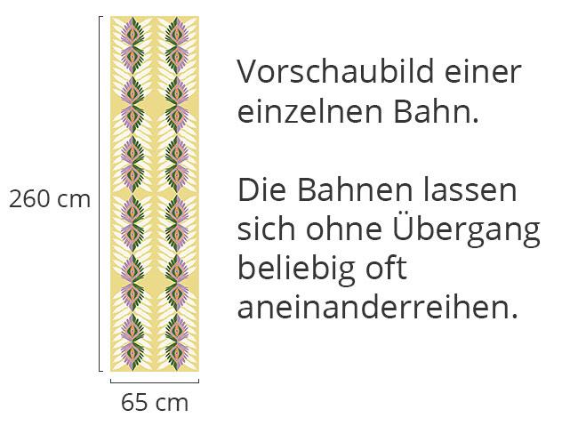 Designtapete Vertikale Ethno Blätter