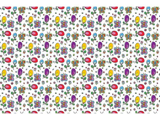 Designtapete Schmetterlinge Im Blumen Glück