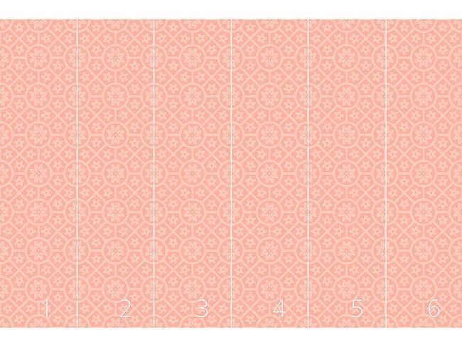 Designtapete Terracotta Rosetten
