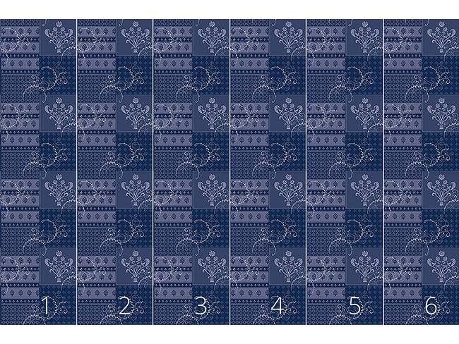 Designtapete Symphonie Floral Blau