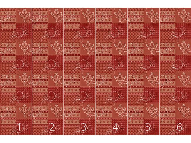 Designtapete Symphonie Floral Rot