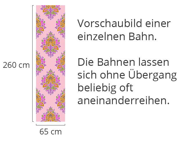 Designtapete Fröhliches Damast