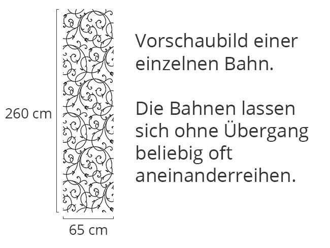 Designtapete Schnörkel Zart