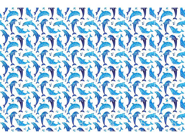 Designtapete Delfine In Wasserfarbe