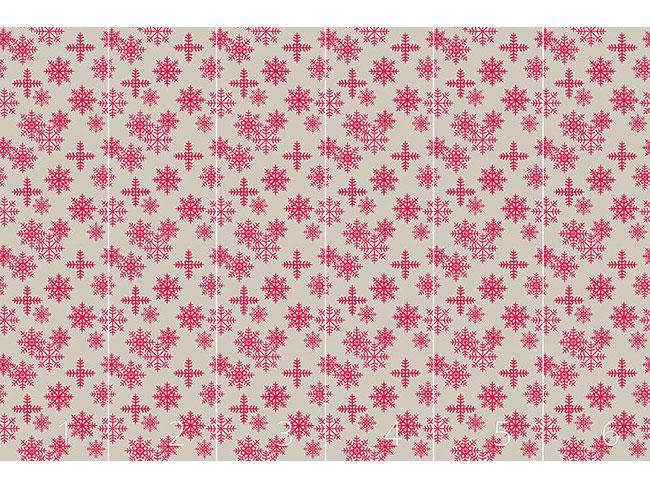 Designtapete Eiskristalle Pink
