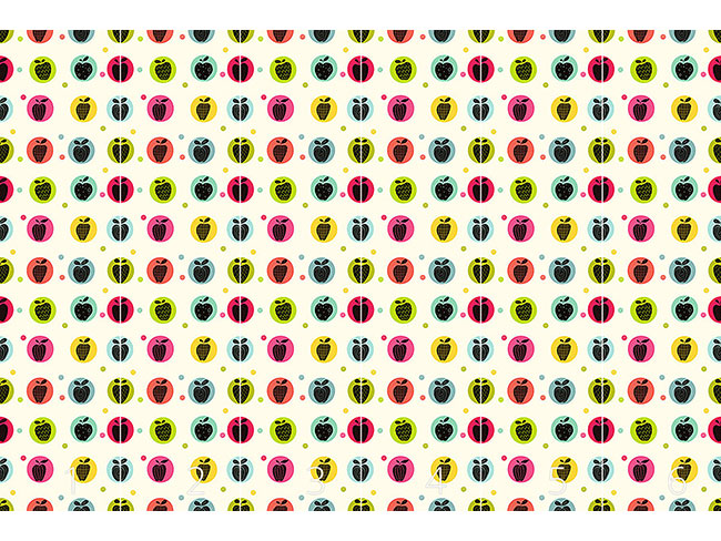 Designtapete Apfel Sticker